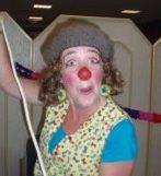 Clown Miepie op Sinterklaasfeest